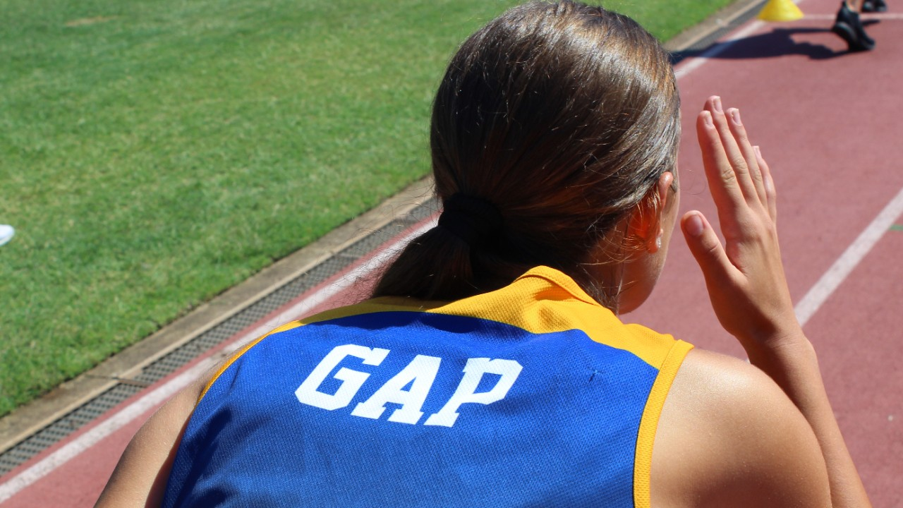 GAP student starting race at the athletics carnival