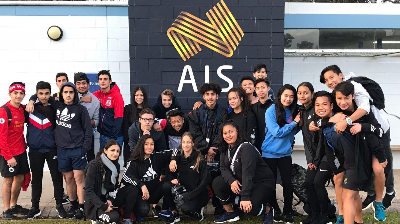 Students visit AIS in Canberra