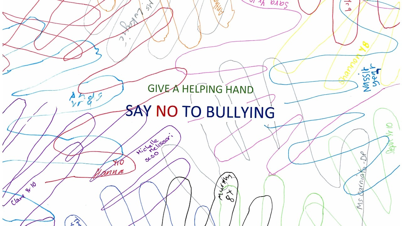 Antibullying poster
